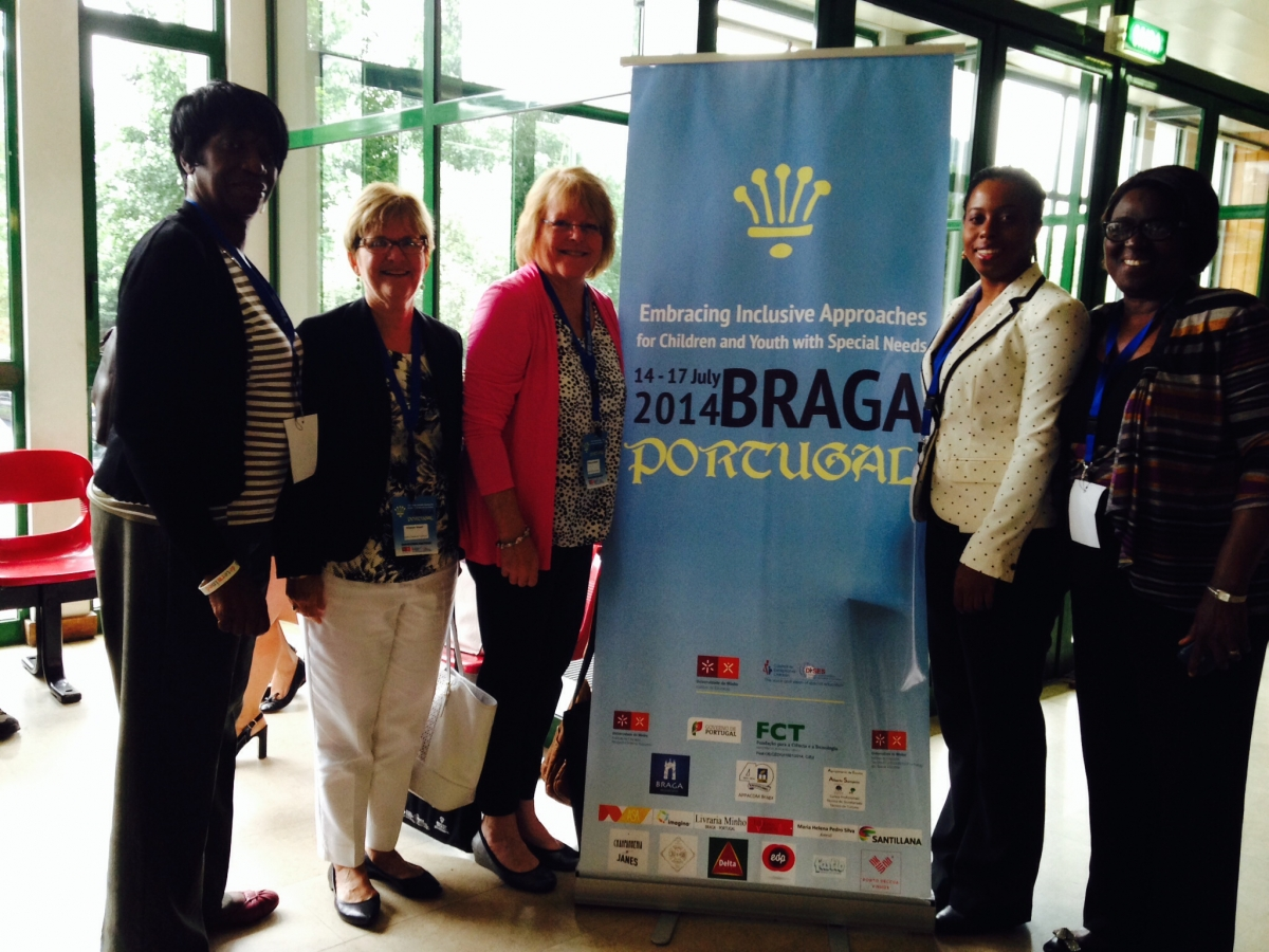 presenting the UDL message with Jamaican colleagues in Braga, Portugal