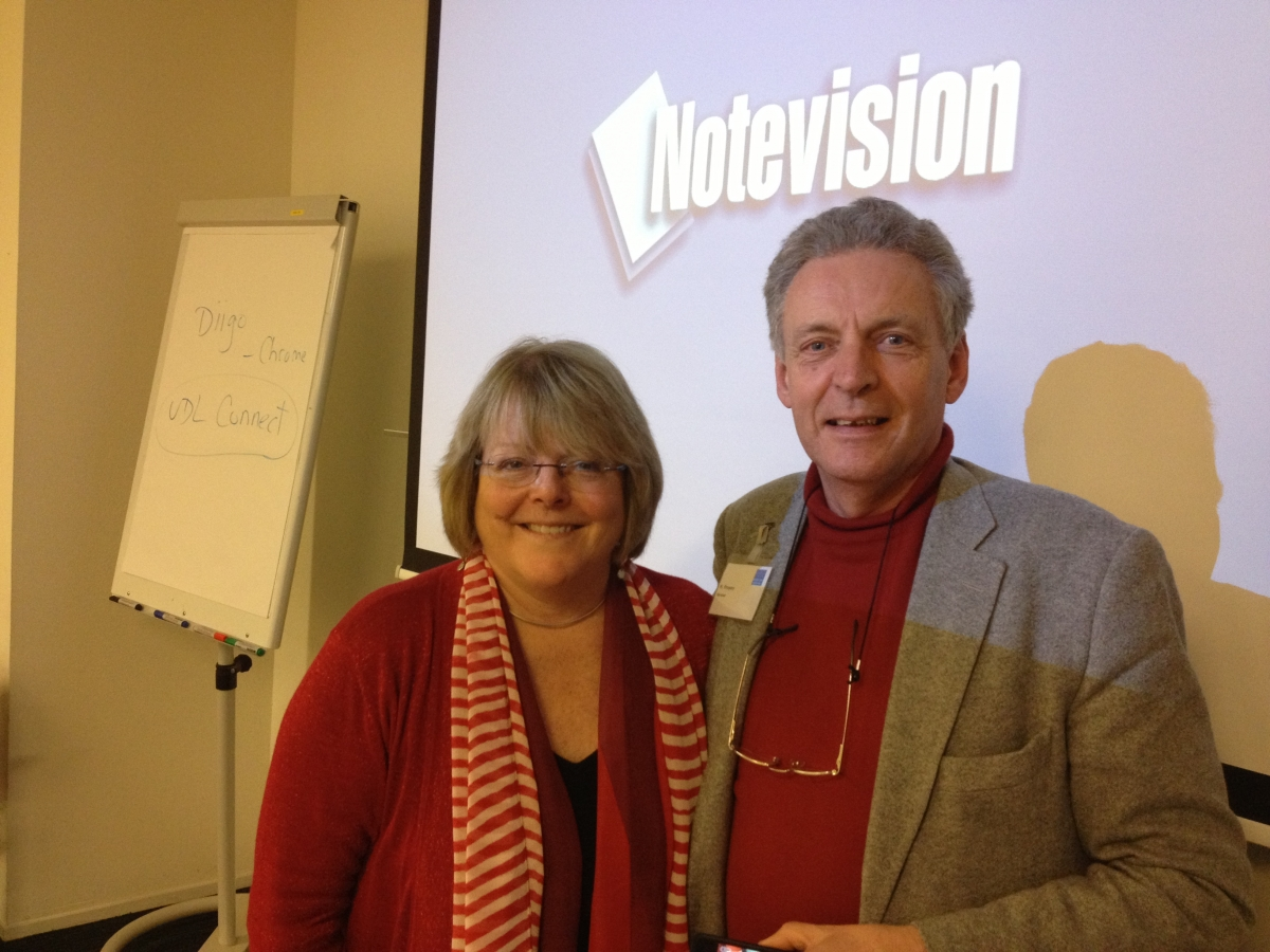 A picture with universal design author and professor Dr. Hubert Froyen in Utrecht, Netherlands, 2012